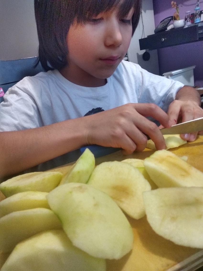 Receta sencilla Pan de manzana 3