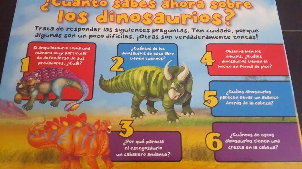 Actividades del libro Paginas Locas Grandes Dinosaurios