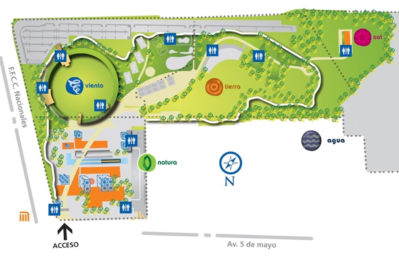 Mapa del parque bicentenario