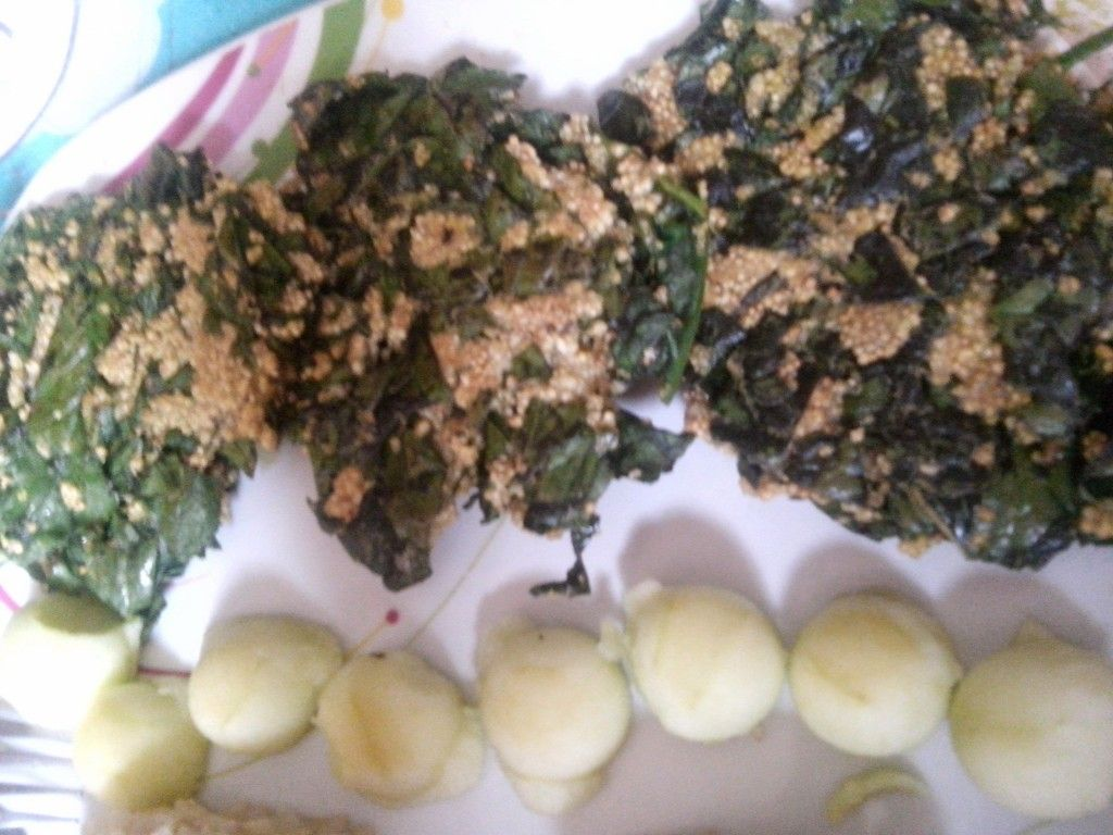 Tortitas de espinaca con amaranto 1