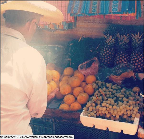 frutas y verduras en el tianguis