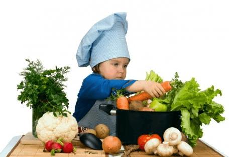 lograr que mi hijo coma verduras