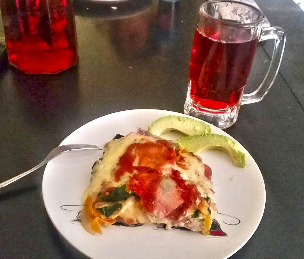 Pastel Azteca Vegetariano 1