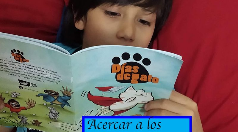 Niño leyendo fanzine Dias de gato