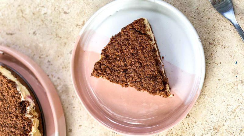 Tarta de café y cacao