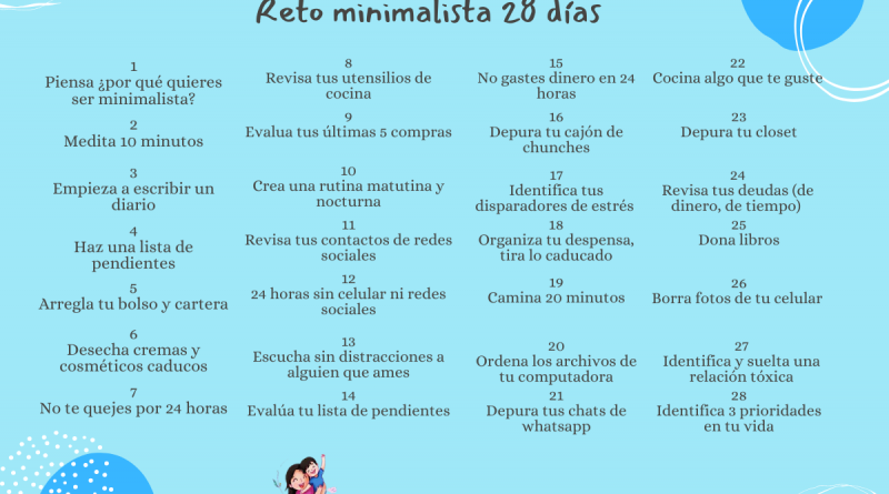 28 días de reto minimalista